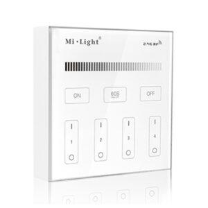 Telecomanda panou 4 zone monocolor MiBoxer T1