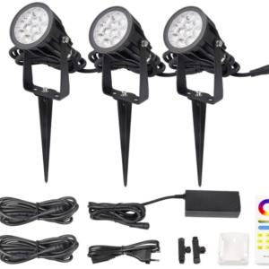 Kit Spot de gradina LED 6W RGB+CCT FUTC08A
